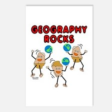 Three Geography Rocks Postcards (Package of 8)