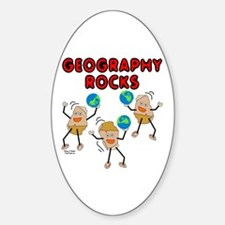 Three Geography Rocks Sticker (Oval)