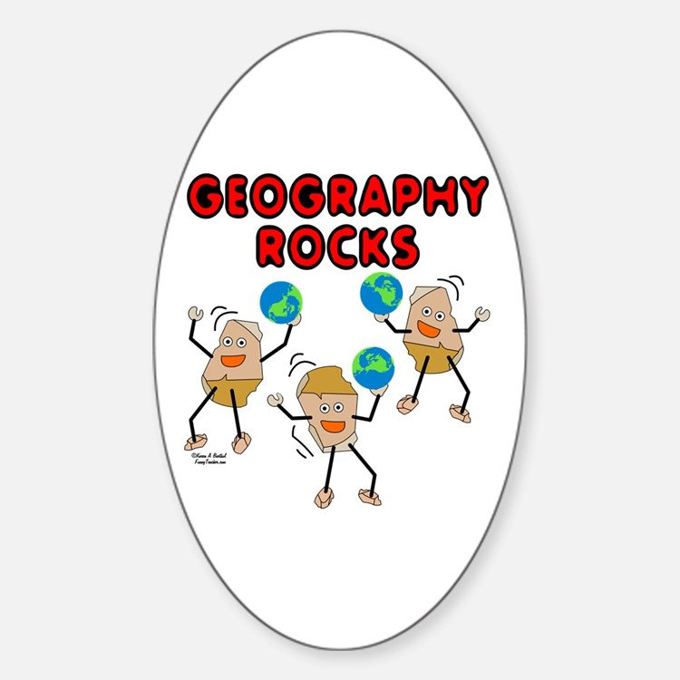 Three Geography Rocks Stickers