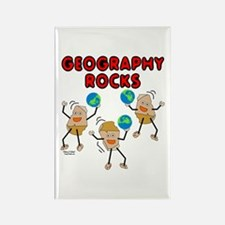 Three Geography Rocks Rectangle Magnet (10 pack)