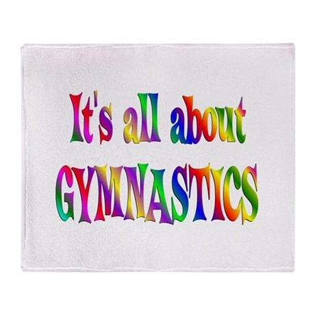 About Gymnastics Throw Blanket