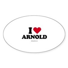 I Love Arnold - Oval Decal