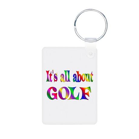 About Golf Aluminum Photo Keychain