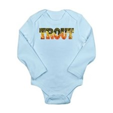 Brook Trout Fly Fishing Catch Long Sleeve Infant B