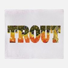 Brook Trout Fly Fishing Catch Throw Blanket