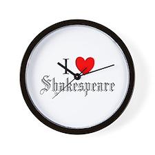 I Love Shakespeare Wall Clock