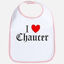I Love Chaucer Bib