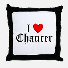 I Love Chaucer Throw Pillow
