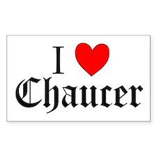 I Love Chaucer Sticker (Rectangular)