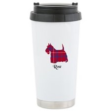 Terrier - Rose Travel Coffee Mug