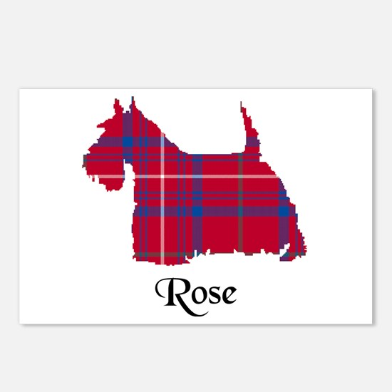 Terrier - Rose Postcards (Package of 8)
