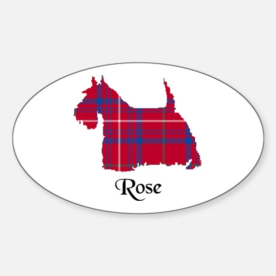 Terrier - Rose Sticker (Oval)