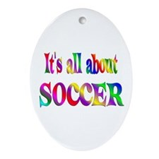 About Soccer Ornament (Oval)