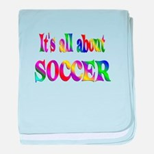 About Soccer baby blanket