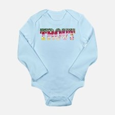 Rainbow TROUT Long Sleeve Infant Bodysuit