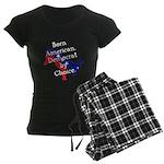 Born American. Democrat by Ch Women's Dark Pajamas