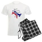 Born American. Democrat by Ch Men's Light Pajamas
