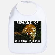 Attack Kitten Bib