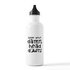 Golfers Keep Head Down Water Bottle