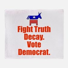 Fight Truth Decay: Vote Democ Throw Blanket