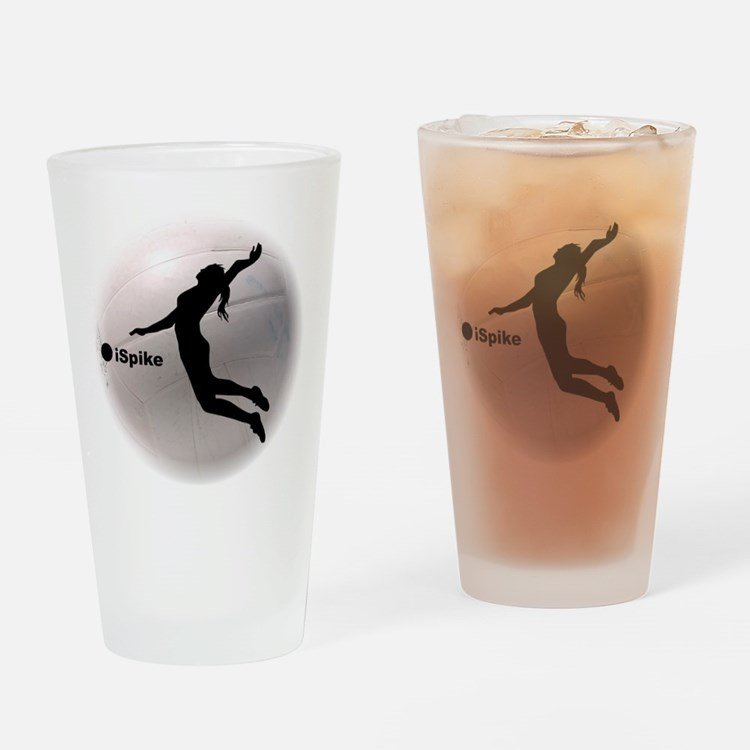 ispike Volleyball Drinking Glass