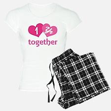 1st Anniversary Hearts Pajamas