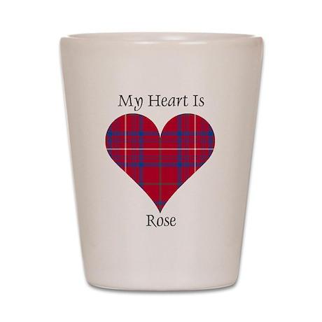 Heart - Rose Shot Glass