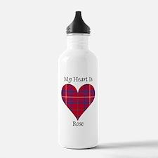 Heart - Rose Sports Water Bottle