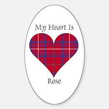 Heart - Rose Sticker (Oval)
