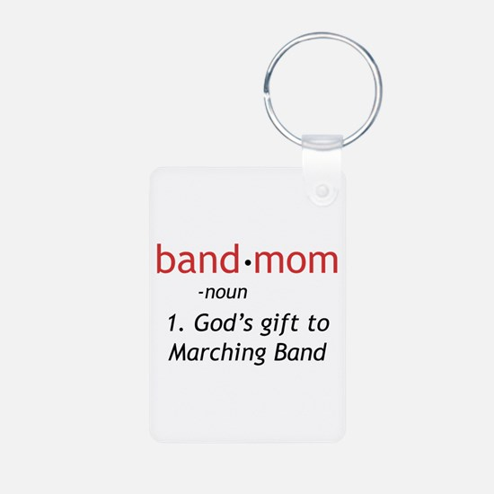 Definition of a Band Mom Aluminum Photo Keychain