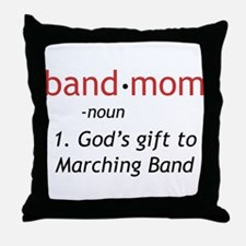 Definition of a Band Mom Throw Pillow