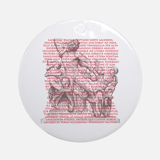 Laocoon Full Text Ornament (Round)