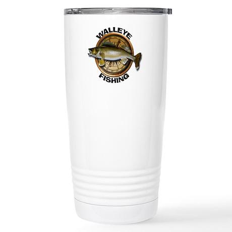 Stainless Steel Walleye Fishing Travel Mug