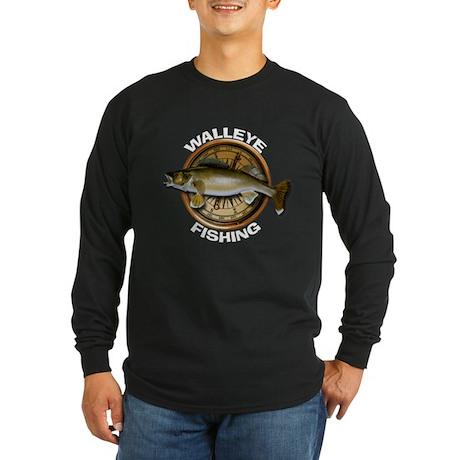 Long Sleeve Dark Walleye Fishing T-Shirt