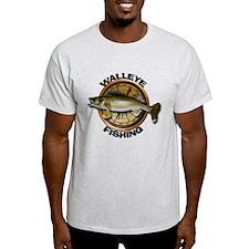 Light Walleye Fishing T-Shirt