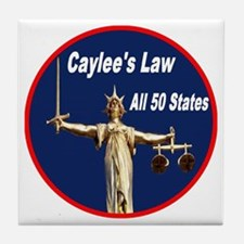 Caylee's Law All 50 States Tile Coaster