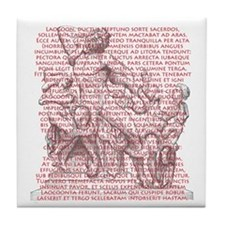 Laocoon Full Text Tile Coaster