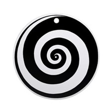 Spiral Time Tunnel Ornament (Round)