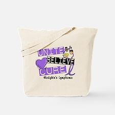 Unite Believe Cure Hodgkin's Lymphoma Tote Bag