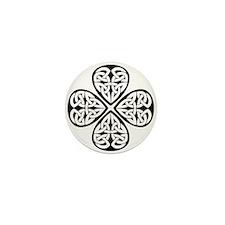 Knotwork Clover Mini Button