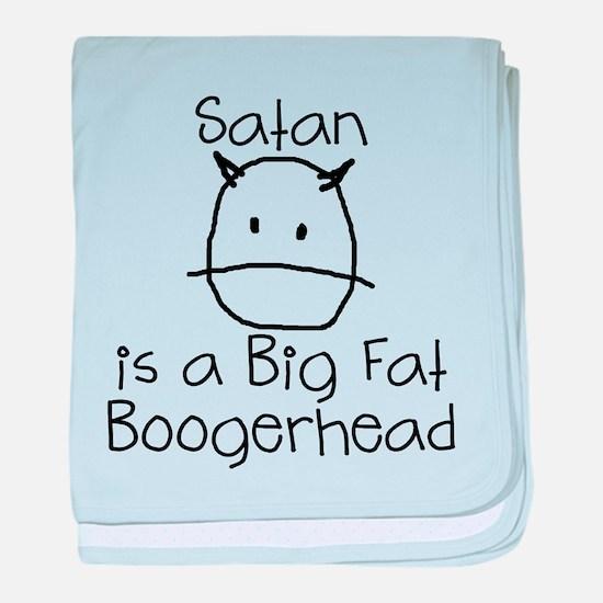 Satan is a Boogerhead baby blanket