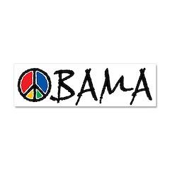Obama Peace Car Magnet 10 x 3