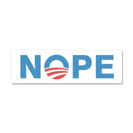 Nope Obama Car Magnet 10 x 3