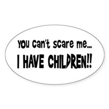 I Have Children Oval Decal
