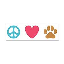 Peace Love Dogs [st] Car Magnet 10 x 3