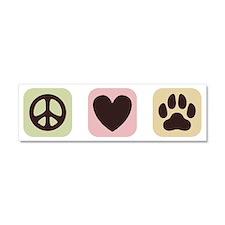 Peace Love Dogs [i] Car Magnet 10 x 3