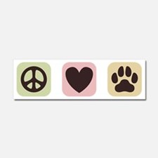 Peace Love Dogs [i] Car Magnet 10 x 3