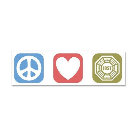 Peace Love Lost [i] Car Magnet 10 x 3
