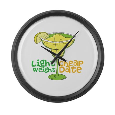 Lightweight Cheap Date Large Wall Clock by