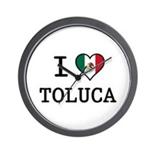 I Love Toluca T-Shirts Wall Clock